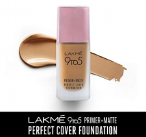 Lakme 9To5 Primer + Matte Perfect Cover Foundation, W320 Warm Caramel, 25 ml at 50% OFF from Amazon