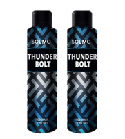 Amazon Brand- Solimo Thunder Bolt Deodorant For Men, 150 ml at Rs 179 only (Pack of 2)