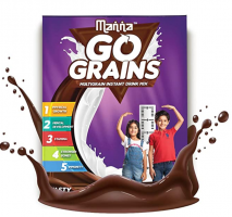 Manna Go Grains Chocolate Flavour Multigrain Instant Drink Mix- 200g at Rs 69 from Amazon