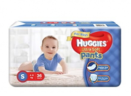 Buy Huggies Ultra Soft Pants Diapers for Girls, Small (Pack of 36) at Rs 270 from Amazon