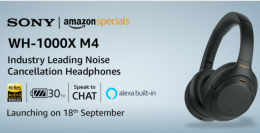 Buy Sony WH-1000XM4 Wireless Noise Cancelling Headphones Amazon India Price, Specifications, Launch Date 18th September