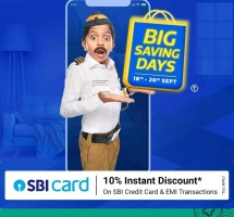 Flipkart Big Saving Days Offers [18th To 20th September 2020] Upto 90% OFF on Mobiles, Electronics, Clothing Footwear and more, Extra 10% SBI Bank Discount