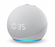 Buy Amazon Echo Dot (4th Gen) with clock | Next generation smart speaker with powerful bass, LED display and Alexa at Rs 4,249 from Amazon