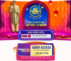 Flipkart Big Diwali Days Sale Offers 29th October 2020: Upto 90% OFF Mobile, Electronics, Clothing Deals + Extra 10% Axis Bank Discount