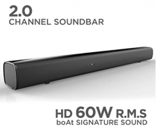 Buy boAt AAVANTE BAR 1160 60W Bluetooth Soundbar with 2.0 Channel at Rs 2799 from Amazon (Apply Rs 200 OFF Coupon)