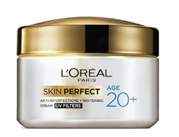 Buy L'Oreal Paris Skin Perfect 20+ Anti-Imperfections + Whitening Cream, 50g at Rs 205 from Amazon
