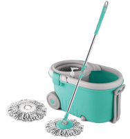 Buy Spotzero by Milton Elegant Spin Mop With Big wheels (Aqua Green, Two Refills) at Rs 830 from Amazon