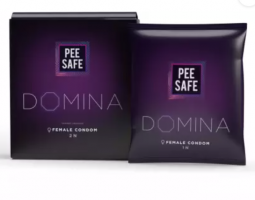 Buy Pee Safe Domina Female Condom - Set of 2 | With 2 Disposable Bags Condom (Set of 4, 2S) at Rs 125 from Flipkart