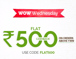 MamaEarth Wow Wednesday Shopping Offers: Flat Rs 500 Cashback on Shopping worth Rs 999 or more