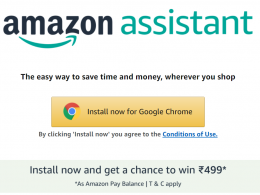 Amazon Assistant Chrome Extension Offers: Install Amazon Assistant and get a chance to win Rs 499 Amazon Cashback