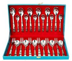 Buy Sanjeev Kapoor Premium Stainless Steel Murphy Laser Cutlery Set- 24 pcs at Rs 840 from Amazon