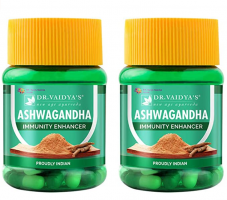 Buy Dr. Vaidya's Ashwagandha Immunity Booster 30 Capsules Each (Pack of 2) at Rs 150 from Amazon