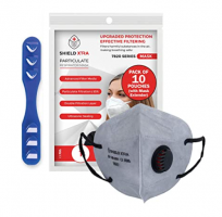 Buy Anti Pollution N-95 Face Mask with 6 Layered Filtration Ear Loop With Exhalation VALVE (Pack of 10) at Rs 352 from Amazon