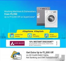 Flipkart Washing Machine Discount Offer: Upto 30% OFF + Extra Rs 10000 OFF on Galanz Washing Machine Using Supercoin