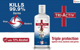 Buy Tri-Activ 72% Alcohol Based Instant Hand Sanitizer Bottle (2 x 500 ml) at Rs 283 from Flipkart