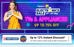 Flipkart Electronics Sale 2021 Offers: Upto 75% OFF on Mobiles, Electronics, Tv and Home Appliances, Extra Upto 12% HDFC Bank Discount