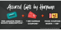 Buy Harman (JBL/Infinity) Products from Amazon and Get 3 Months Free Amazon Prime Subscription + Rs 100 Swiggy Coupon