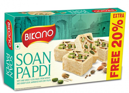 Buy Bikano Soan Papdi, Milk 500 Gm Extra 20% (500g+100g Extra) at Rs 126 from Amazon