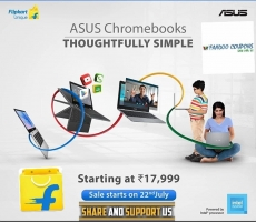 Buy ASUS Chromebooks Celeron Dual Core Laptop starting at Rs 17,990 Online from Flipkart, Specifications, 1st Sale on 22nd July