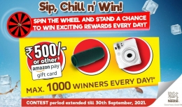 NESCAFE Coffee Spin & Win Amazon Pay Vouchers Offer- Win Rs 500 Amazon Gift Voucher, Intex Camera, JBL Flip Speakers