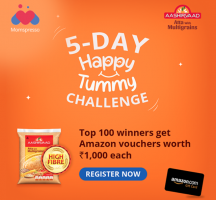 Aashirvaad Atta 5 Days Happy Tummy Challenge Contest- Participate and Get a Chance to Win Rs 1000 Amazon Gift Voucher (Top 100 Winners)