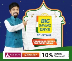 Flipkart Big Saving Days Sale August 2021 Best Shopping Offers- Upto 75% OFF on Mobiles, Electronics, Clothing, Extra Axis & ICICI Bank Discount