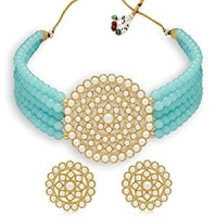 Buy Sukkhi Adorable Gold Plated Pearl Choker Necklace Set for Women at 89% OFF from Amazon