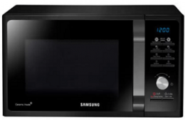 Buy Samsung 23 L Solo Microwave Oven (MS23F301TAK, Black) at Rs 5500 from Flipkart, Extra 10% Bank Discount